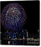 Fireworks In New York City Canvas Print