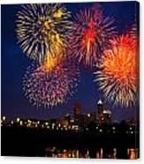 Fireworks In The City Canvas Print