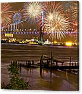 Fireworks On The Ben Canvas Print