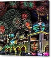 Fireworks Over Atlantic City Canvas Print