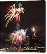 fireworks over Brisbane Canvas Print