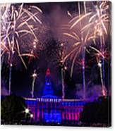 Fireworks Over Denver City And County Building Canvas Print