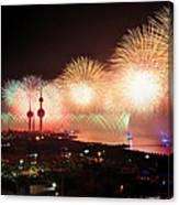 Fireworks Over Kuwait City Canvas Print