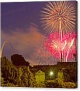 Fireworks Over St Louis Canvas Print
