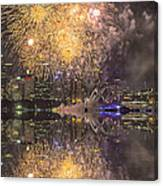 Fireworks Over Sydney Opera House Canvas Print