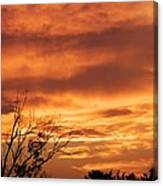 Firey Sunset Canvas Print
