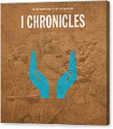 First Chronicles Books Of The Bible Series Old Testament Minimal Poster Art Number 13 Canvas Print