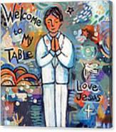 First Communion Boy Canvas Print