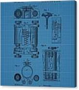 First Computer Blueprint Patent Canvas Print