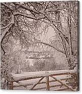 First Fall Of Snow Canvas Print