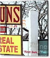 First Guns Then Land Canvas Print