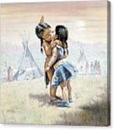 First Kiss Canvas Print