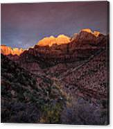 First Light 2 Zion National Park Canvas Print