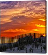 First Light At Cape Cod Beach  Canvas Print