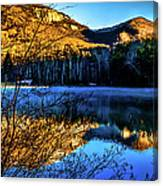 First Light At Pinnacle Lake Canvas Print