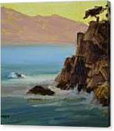 First Light At Point Lobos Canvas Print