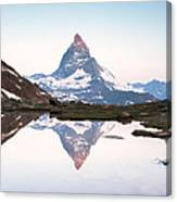 First Light On The Summit Of Matterhorn Canvas Print