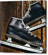 First Pair Of Ice Skates Canvas Print