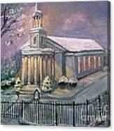 First Parish Church Canvas Print