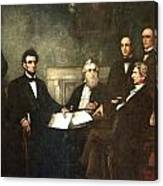 First Reading Of The Emancipation Proclamation Of President Lincoln Canvas Print
