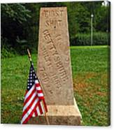 First Shot Monument Gettysburg Canvas Print