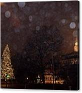 First Snow At Michigan State Capital Canvas Print