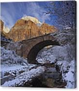 First Snow Pine Creek Canvas Print
