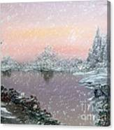 First Snowfall Canvas Print