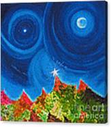 First Star Christmas Wish By Jrr Canvas Print