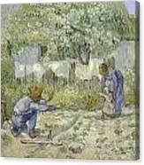 First Steps Van Gogh Canvas Print