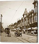 First Street Downtown San Jose California Circa 1905 Canvas Print