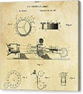 First True Motion Picture Projector Patent  1897 Canvas Print