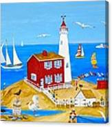 Fisgard Lighthouse Canvas Print