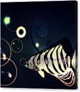 Fish Bubbles Canvas Print