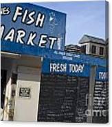 Fish Market In Hobart Canvas Print