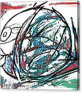 Fish Morden Art Drawing Painting Canvas Print