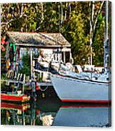 Fish Shack And Invictus Painted Canvas Print