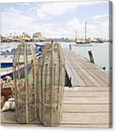 Fish Trap On Jetty In Penang Canvas Print