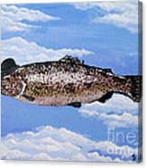 Fish With Bowler Canvas Print