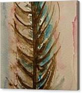 Fishbone Or Feather Canvas Print