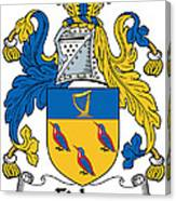 Fisher Coat Of Arms Irish Canvas Print
