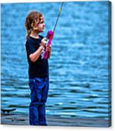 Fisher Girl Canvas Print