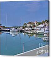 Fisher Island Marina Reflections Miami Fl 2  Canvas Print