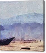 Fisherman Boat On The Goan Coast. India Canvas Print