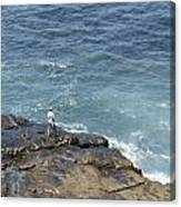 Fisherman On Remore Reef Canvas Print