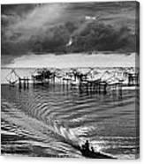 Fisherman Returns Home Canvas Print