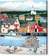 Fisherman's Cove Canvas Print
