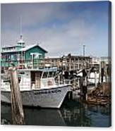 Fishermans Wharf In Monterey Canvas Print