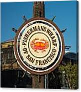 Fisherman's Wharf Sign Canvas Print