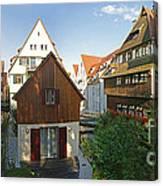 fishermens quarter in Ulm Canvas Print